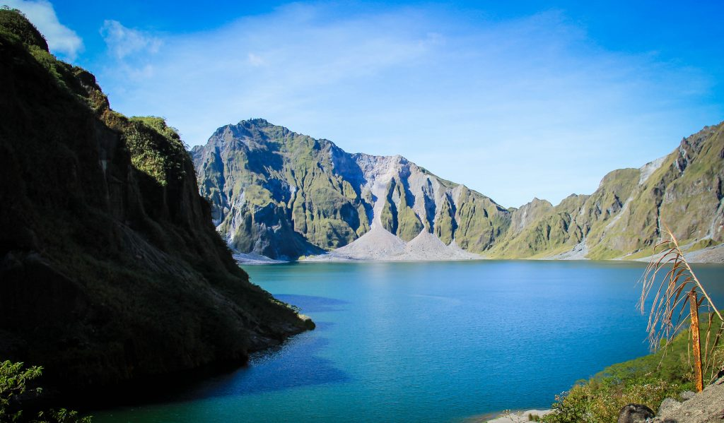 Crater Lake at Mt Pinatubo in the Philippines