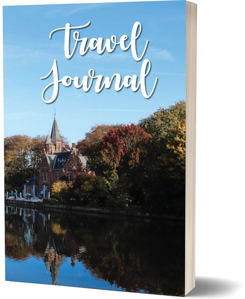 Travel journal lined notebook