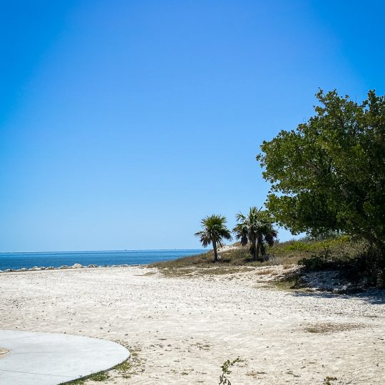 Beach at Bahia Honda State Park in Florida Keys